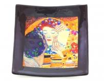 N40 Блюдце-конфетница 12х12см  Климт Поцелуй муранское стекло