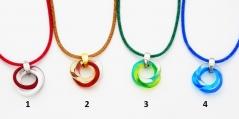 RD26 (1) Подвеска Триада различные цвета муранское стекло