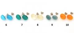 RD17 Серьги-гвоздики Самоцветы (2) диам.12 мм муранское стекло