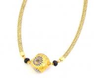 Vac/С9639 Колье с золотой бусиной с мурринами на золотой коже 40+5 см муранское стекло