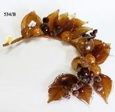 534/B Ветка с яблоками и желудями (дл. 32см) муранское стекло