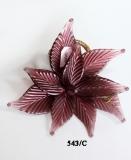 543/C Декор. композиция Цветок (дл. 11см)  муранское стекло