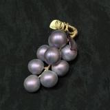 543/G Виноградная гроздь с 9 ягодами (дл. 11см) муранское стекло