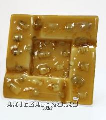332/F Блюдо квадрат.декор.муранское стекло