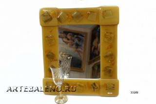 332/H Зеркало больш.муранское стекло