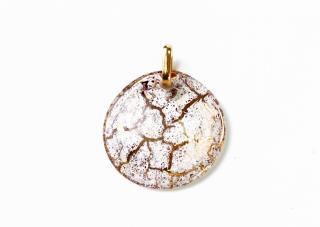 NV02 Подвеска Бонди' диаметр 5см цвет бело-золотой