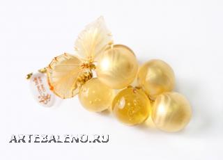 662/M Сувенир-комплимент Гроздь винограда с 6 ягодами (длина 10см) муранское стекло
