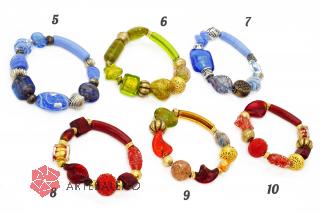 2012-20(2)/maz Браслет различные цвета муранское стекло