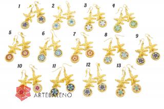 art.257 Серьги Морская звезда муранское стекло
