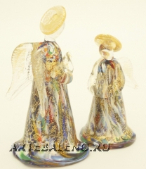 GRos01 Ангел маленький 8 см с мурринами муранское стекло