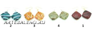 2013-38/maz Серьги Меконг 4 цвета муранское стекло