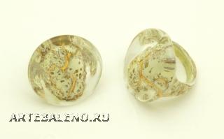 NV03Кольцо модель Venice цвет золото-слоновая кость
