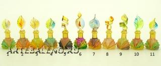 B01/M (4) Флакончик-миньон Аромат Востока  h6-8см серия Винтаж муранское стекло