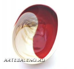 Yalos 9058 Ваза миньон 16,5х11,5х7,5см дизайн Avorio rosso муранское стекло