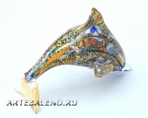 GRos Funny Zoo фигурка Дельфин 10,5см муранское стекло