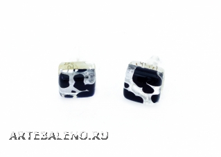 Арт. 44 Серьги-гвоздики 1х1