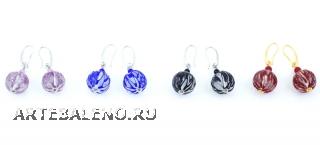 2016-46/maz Серьги Лугано 4 цвета  муранское стекло
