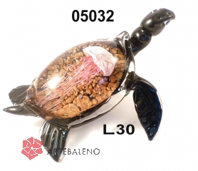 SM5032 Статуэтка Черепаха с медузой L30 см