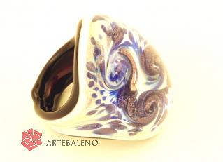 PM06 Кольцо Февраль муранское стекло