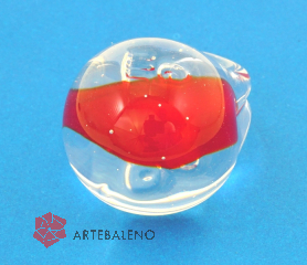 PM02 Кольцо Коралл муранское стекло