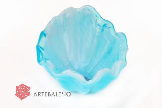 05955 Блюдо-ладья 15х27см, высота 9 см  цвет голубой
