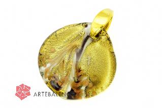 RD28 Подвеска крупная Aurum муранское стекло