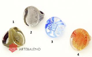 PM106-a Кольцо  Венеция 4 цвета муранское стекло