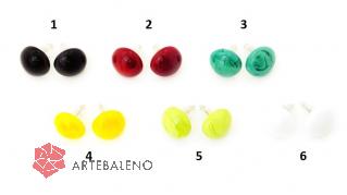 VM0581  Серьги-гвоздики диам.12 мм vetro pasta различные цвета муранское стекло