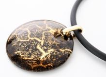 NV01 Подвеска Бонди' диаметр 5см цвет черно-золотой