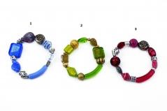 2012-20/maz Браслет различные цвета(серебро) муранское стекло