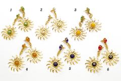 art.112 Серьги Солнце муранское стекло и стразы