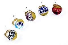 IV06-a Кольцо круглое в форме полусферы диам.2,5см 5 цветов муранское стекло