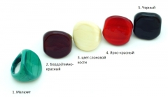 RD11 Кольцо Матовый шик 2,5х3см 5 цветов муранское стекло
