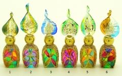 B01 (8) Флакончик Венецианский карнавал h8-14см серия Винтаж муранское стекло