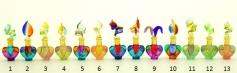 B01/M (5) Флакончик-миньон Аромат Востока  h6-8см серия Винтаж муранское стекло