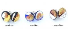 RD05-O Серьги-гвоздики 3 цвета муранское стекло