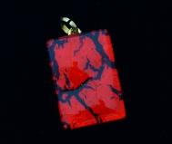 Арт.01 красный - подвеска 2x3см муранское стекло