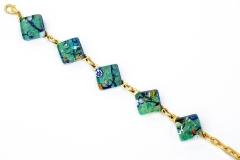 Арт. 224 браслет с 5 элементами 1,5x1,5см