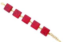 Арт.01 красный - браслет с 5 элементами 2х2