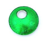 Арт. 02 зеленый - подвеска круглая 4,5см муранское стекло