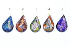 CV08 Подвеска в форме капли Северное сияние муранское стекло 5 цветов