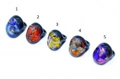 CV09 Кольцо Северное сияние 5 цветов муранское стекло
