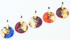 ZN17 Подвеска Алхимия 4х4,5 см 5 цветов муранское стекло
