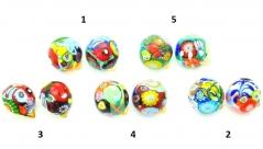2013-35NEW/maz Клипсы диам.20 мм линия Пикассо 5 цветов муранское стекло
