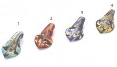 RD24 Подвеска Калла с декором 4 цвета муранское стекло