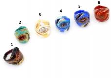VM0518  Кольцо Виареджио различные цвета муранское стекло
