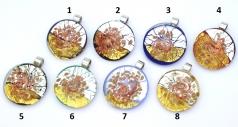 RS43 Подвеска круглая с золотом, серебром и авентурином 8 цветов муранское стекло