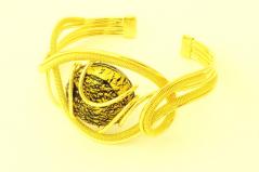RS77 Браслет Futura с золотой бусиной из муранского стекла