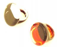 PM105 Кольцо двуцветное муранское стекло