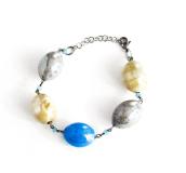 GM003 Soranzo Браслет цвет серо-голубой муранское стекло